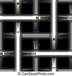 an abstract stainless steel metal weave background