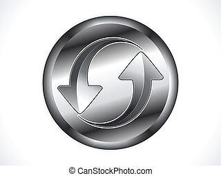 abstract metalic shiny refresh icon