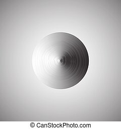 Abstract metallic background with round.  vector.