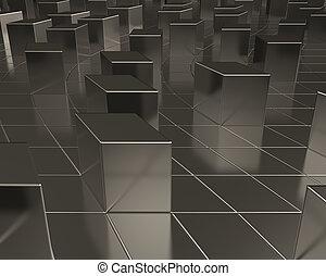 Abstract metallic concept
