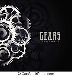 abstract metallic gears background design