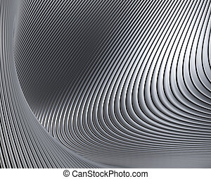 Abstract metallic shapes background