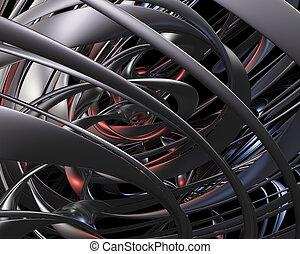 Abstract metallic universe concept