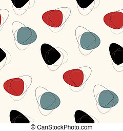 Abstract mid century pattern - Vector seamless mid century...