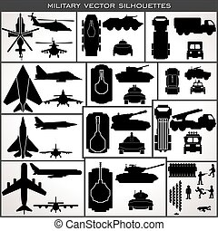 Abstract Military Silhouettes. Vector Collection