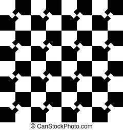 Abstract minimal checkered pattern with mosaic of squares....