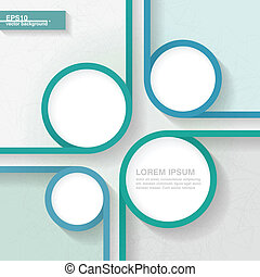 Abstract minimalistic template