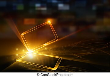 Abstract mobile device - Technological background - abstract...