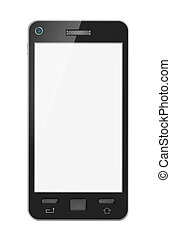 Abstract mobile phone with blank