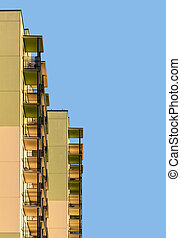 Abstract modern apartment building