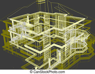 Abstract modern architecture - 3d render abstract modern...