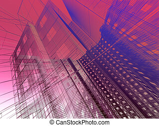 abstract modern architecture  - abstract modern architecture