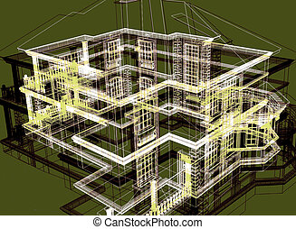 abstract modern architecture - abstract modern project of...