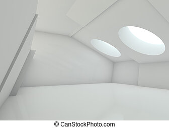 Abstract modern architecture background. 3D