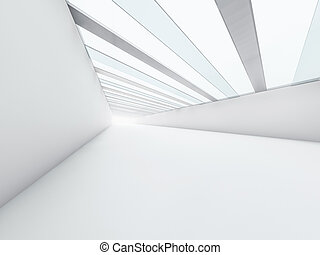 Abstract modern architecture background, empty white open space