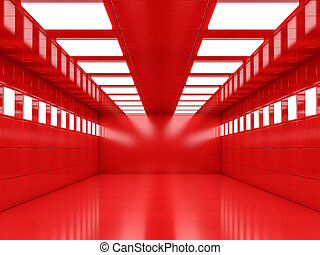 Abstract modern architecture background, empty open space interi