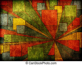 Abstract Modern Art Design Background - A worn, rough,...