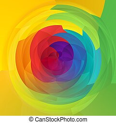 abstract modern art geometric swirl background - full spectrum rainbow colored - fresh spring color