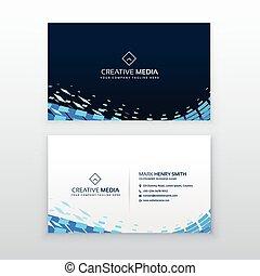 abstract modern blue business card design