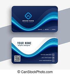 abstract modern blue business card template design