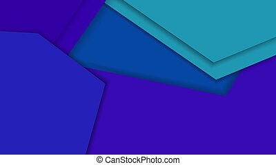 Abstract modern blue geometric background