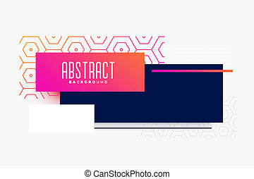 abstract modern colorful banner design