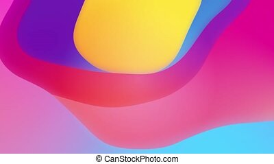 Abstract Modern Colorful Wavy Looped Animation Background 4K 3D