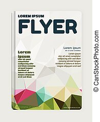 Abstract modern flyer - brochure template. Business