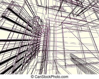 abstract, modern gebouw