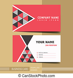 Calling card clipart and stock illustrations 9750 calling card abstract modern geometric business card in red and black colourmoves