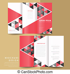 modern geometric tri fold brochure - abstract modern...
