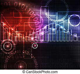 Abstract modern glowing background