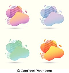 Abstract modern graphic elements