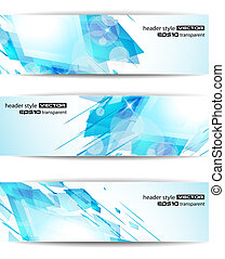 abstract modern header banner for business