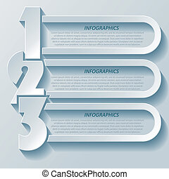 Abstract modern infographics design with numbers