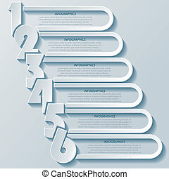Abstract modern infographics design with numbers. can be ...