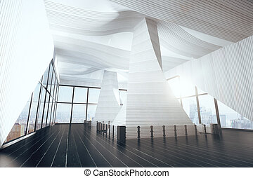 Abstract modern interior, 3D Render