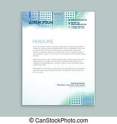 abstract modern letterhead design