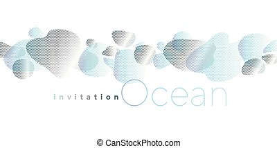 Abstract modern liquid shapes horizontal composition Concept...