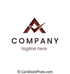 Abstract modern logo template. Icon for business company. Creative branding symbol with tagline isolated.