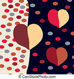 Abstract modern seamless pattern with hearts