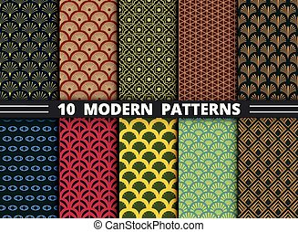 Abstract modern style antique pattern of colorful set background. illustration vector eps10