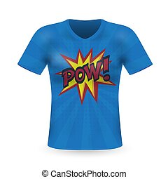 Abstract modern t-shirt print design with power