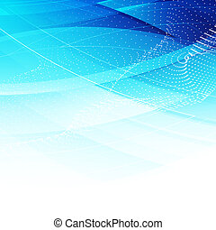 Abstract modern trendy design - blue wavy background.