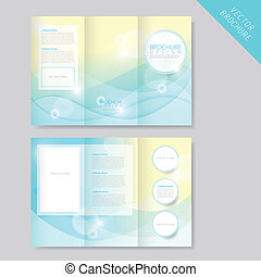 abstract modern tri-fold brochure template for business