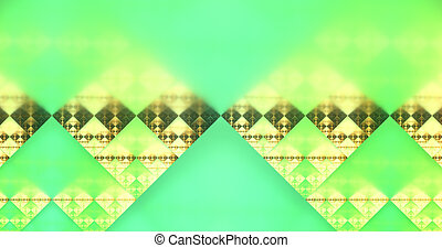 abstract modern yellow green fractal background