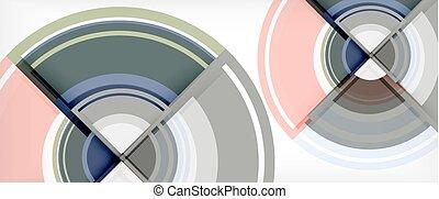 abstract, moderne, achtergrond, ontwerp, mal, cirkel, geometrisch