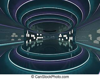 abstract, moderne architectuur, achtergrond., 3d
