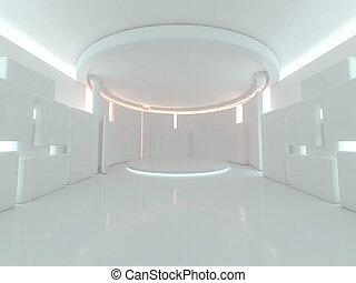 abstract, moderne architectuur, achtergrond., 3d, vertolking