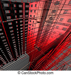 abstract, moderne architectuur